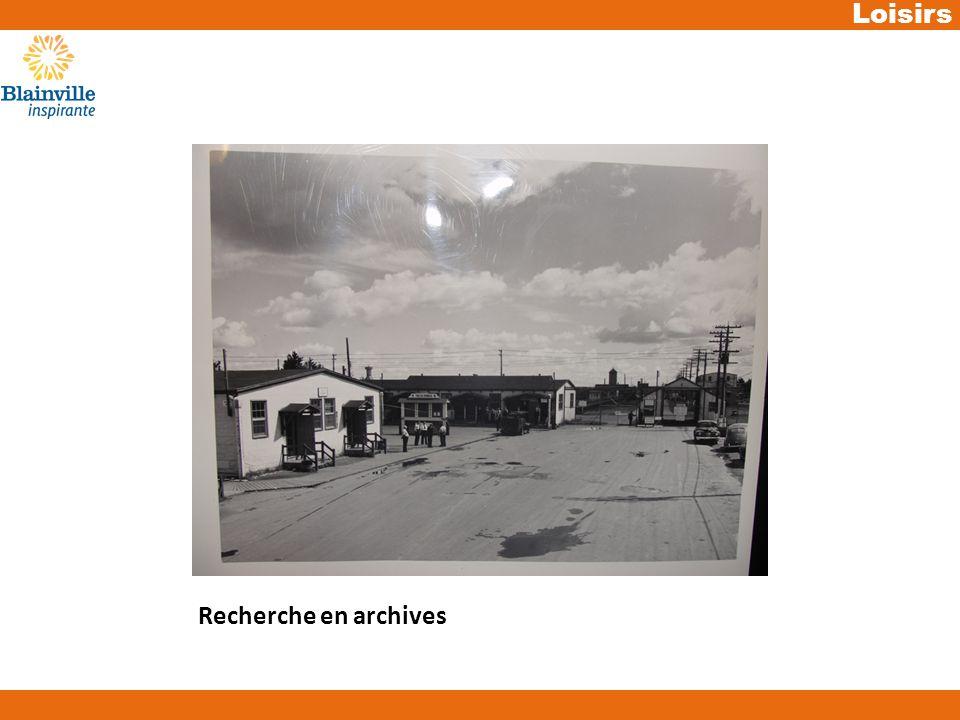 Loisirs Recherche en archives