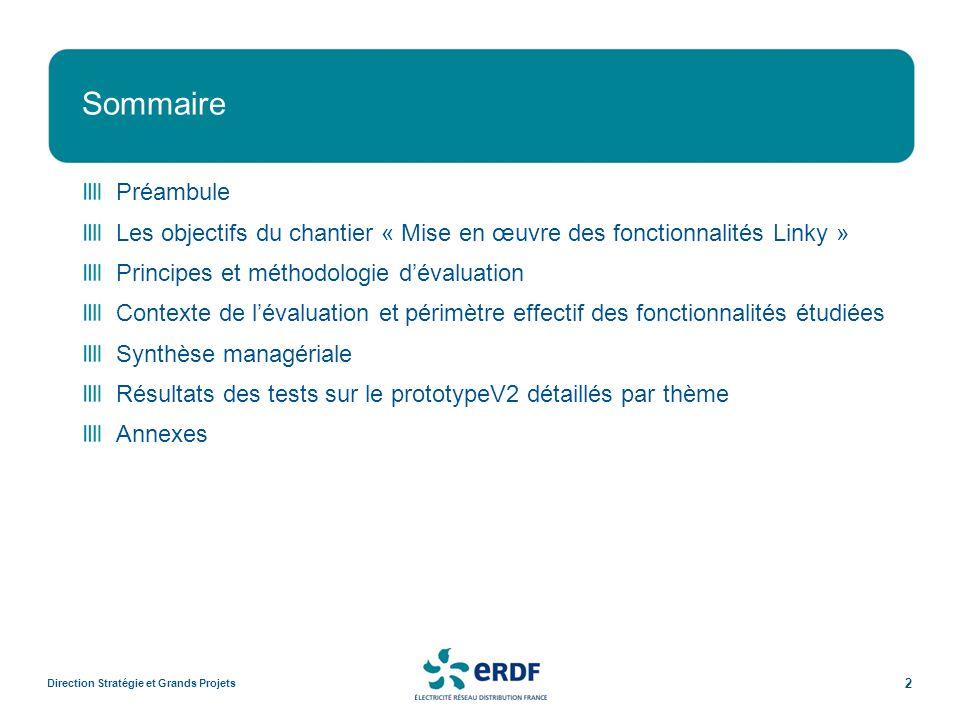 Fonctionnalités Linky évoluées Janvier 2011Direction Stratégie et Grands Projets 23 ThèmeCapacité à mettre en œuvre les fonctionnalités Linky JustificationsPoints Forts (+) / Axes de progrès (-) / Points dattention (!) Administration des calendriers fournisseurs (CT10.1, CT10.3, CT10.5, CT10.6 et CT03.8) Tests effectués sur la création de calendriers fournisseurs et des groupes associés, le rattachement dun calendrier à un PDL, modification du calendrier et du groupe rattaché à un PDL en mode administration, soit 25 fonctionnalités: - 8 non testables (32%) - 16 OK (64%) -1 KO (4 %) (Dans les relevés, implémentation visible de la structure du nouveau calendrier) Nont pas pu être testés : - les fonctions de modification ou suppression de calendrier - la modification par le fournisseur du calendrier ou du groupe dun PDS - la mise en œuvre de la pointe mobile - la gestion des contacts (sec et virtuels) (+) besoins ERDF bien compris (-) Dans E.net, prévoir un N° de calendrier servant de pivot déchange entre ERDF et le fournisseur (-) Ajouter un filtre systématique sur les groupes affichés en fonction du calendrier fournisseur (mise en œuvre au cours de la mise en service, mais pas en modification de groupe associé à un PDS en mode administration) (!) Processus de validation automatique par ERDF des calendriers proposés par les fournisseurs.
