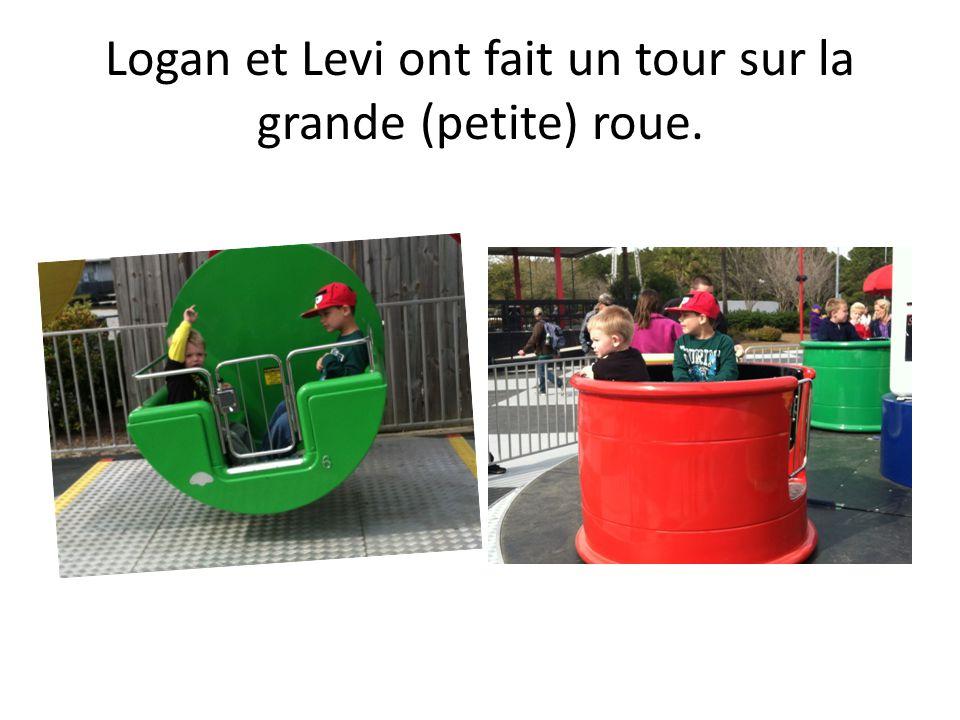 Logan et Levi ont fait un tour sur la grande (petite) roue.