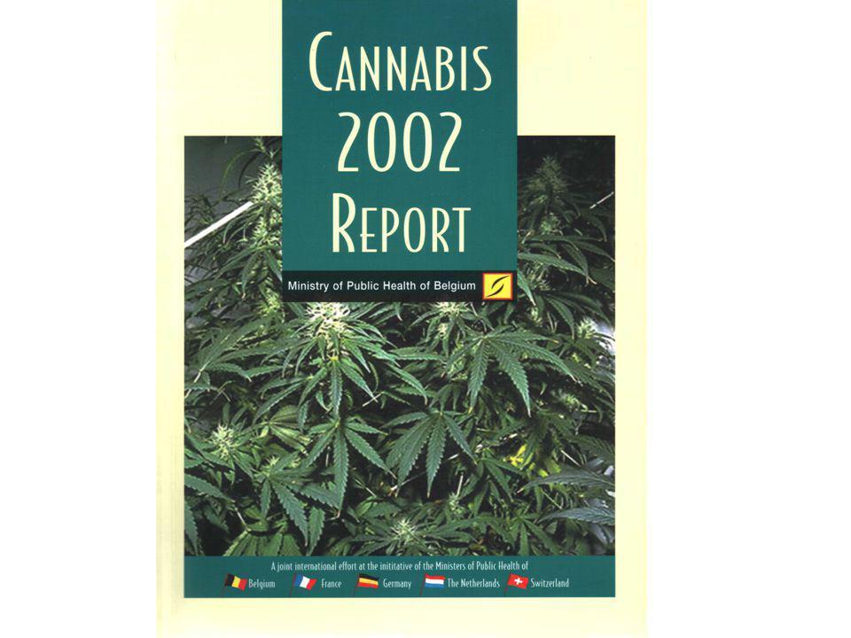 Le cannabis Ensemble de substances : les cannabinoïdes Action sur des récepteurs spécifiques dans le système nerveux central (CB1) et au niveau périphérique (CB2) Ligands endogènes (anandamide, …) Action comme les autres substances donnant lieu à assuétude sur le circuit de récompense Sensibilisation croisée entre cannabinoïdes et autres drogues