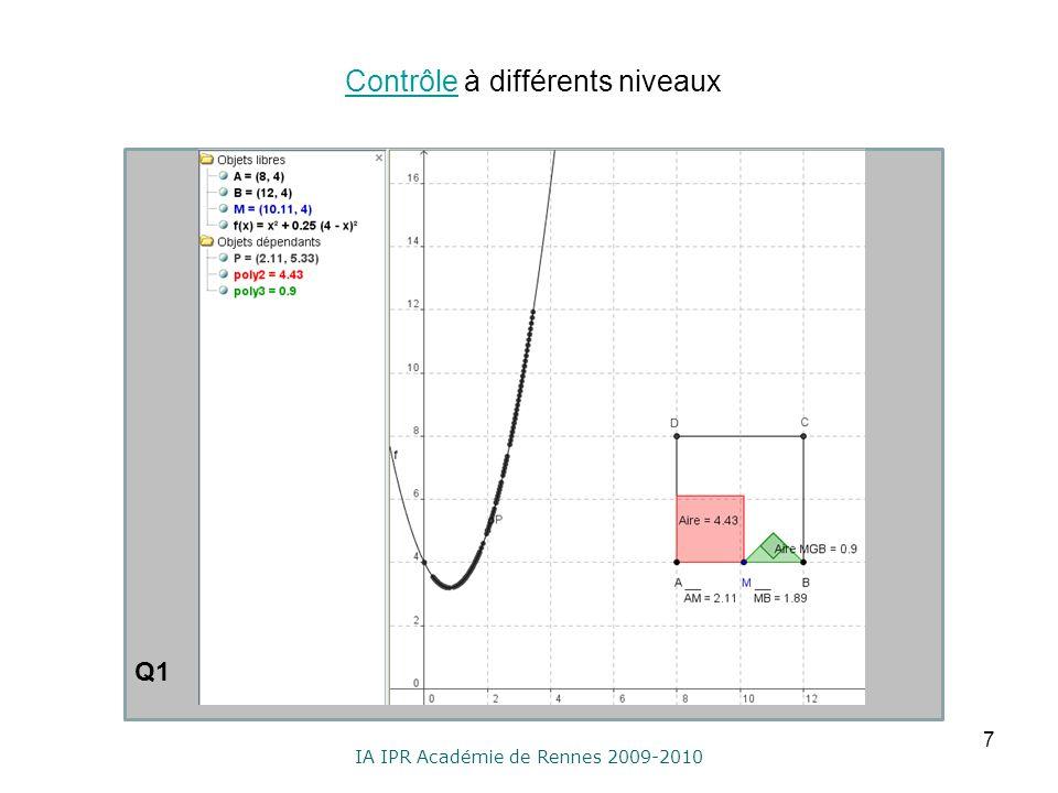 IA IPR Académie de Rennes 2009-2010 Contrôle à différents niveauxContrôle 7 Q1