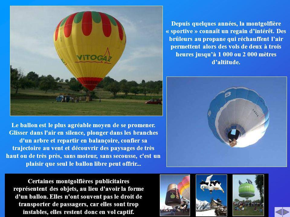 Le ballon est le plus agréable moyen de se promener. Glisser dans l'air en silence, plonger dans les branches d'un arbre et repartir en balançoire, co