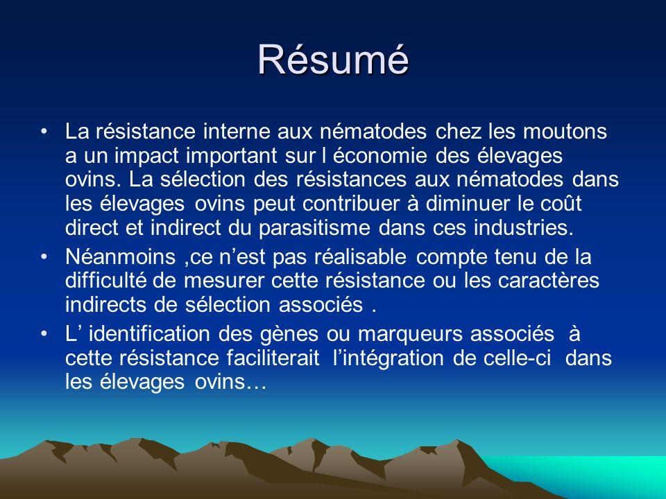 COMPLEXITE DE LA RESISTANCE PARASITAIRE Les négatifs: –- les vrais négatifs: soit les animaux infectés ont éliminé linfection par une réponse immunitaire active.