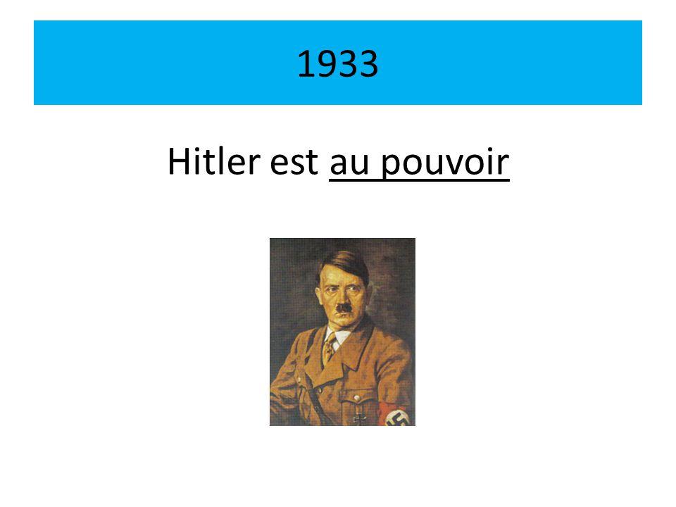 1933 Hitler est au pouvoir
