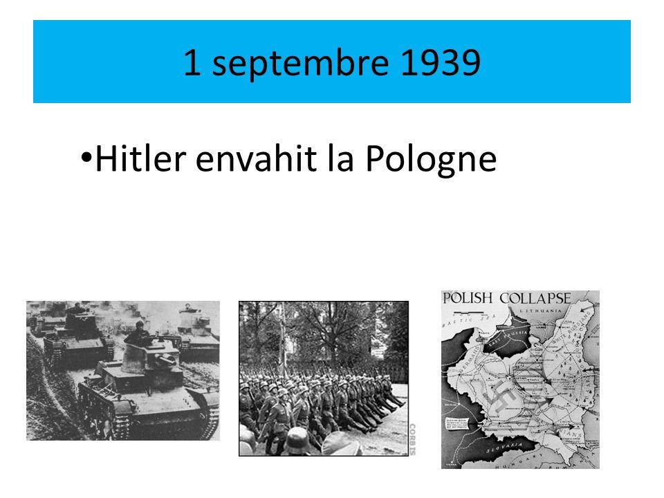 3 septembre 1939 La France déclare la guerre à lAllemagne.