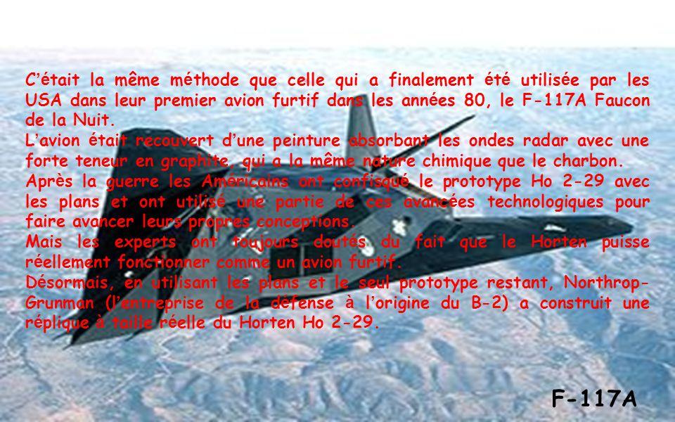 Avides de vengeance : Les inventeurs Reimar et Walter Horten sont inspir é s, pour construire le Ho 2-29, par la mort de milliers de pilotes de la Luf