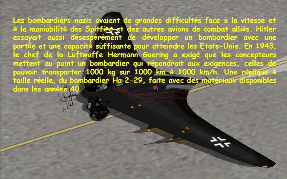Construit pour la premi è re fois et test é dans les airs en mars 1944, il é tait con ç u avec une plus grande port é e et une meilleure vitesse que t