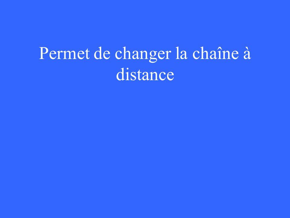 Permet de changer la chaîne à distance