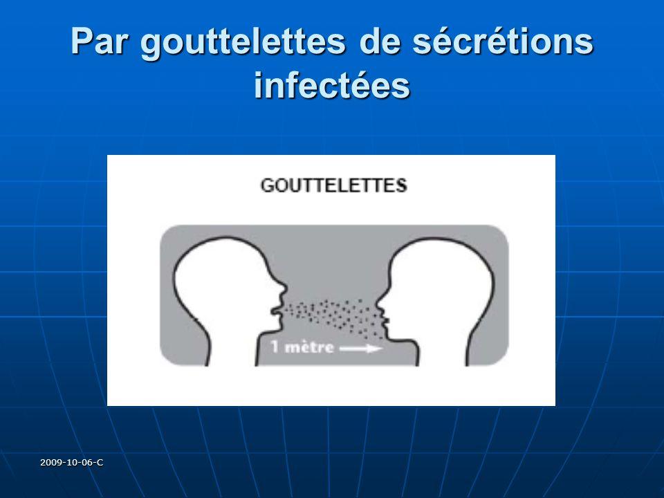 2009-10-06-C Par gouttelettes de sécrétions infectées