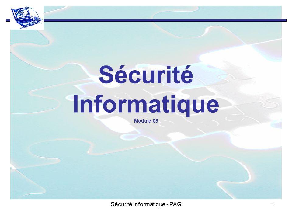 Sécurité Informatique - PAG1 Sécurité Informatique Module 05