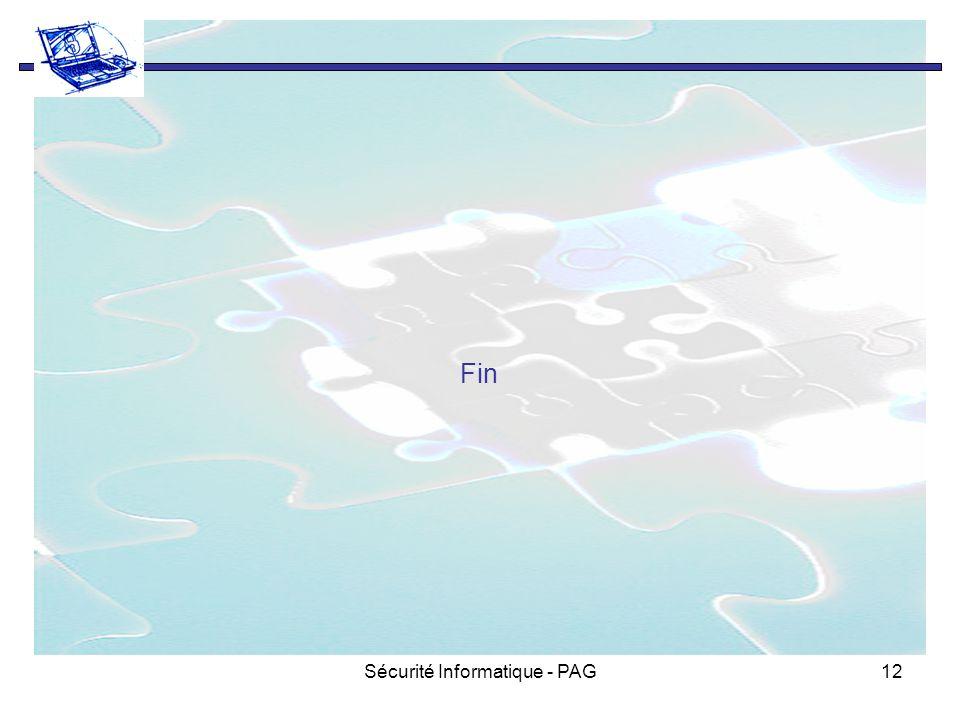 Sécurité Informatique - PAG12 Fin