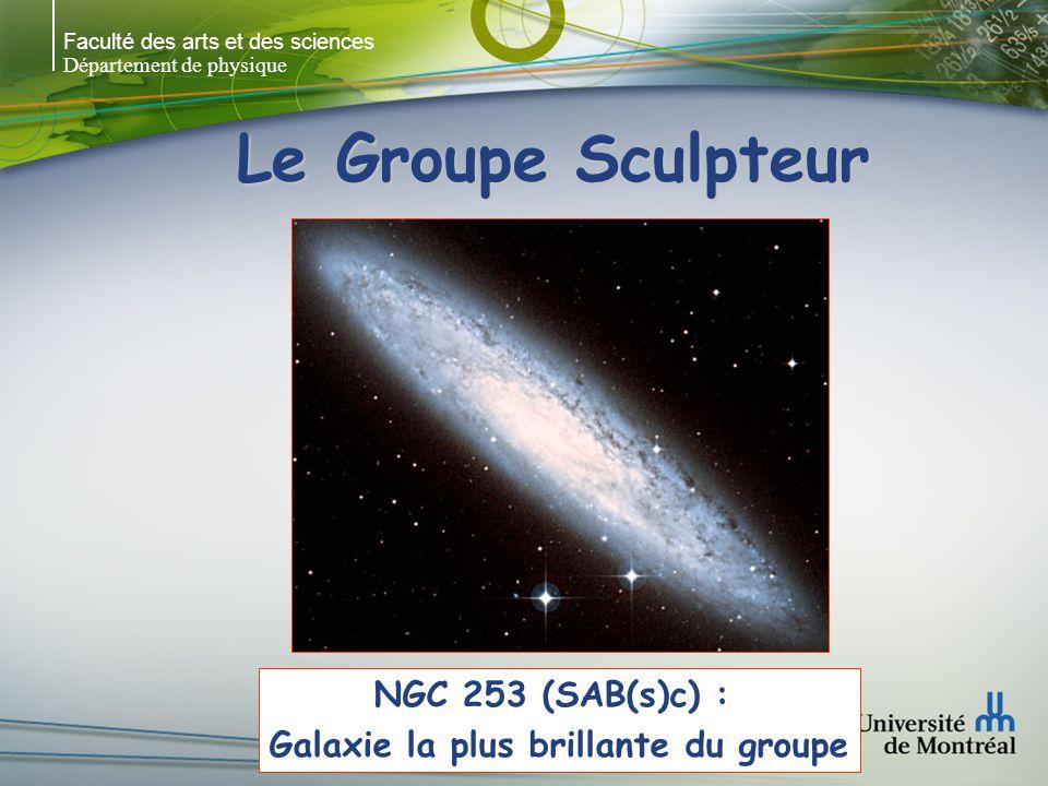 Faculté des arts et des sciences Département de physique Le Groupe Sculpteur NGC 253 (SAB(s)c) : Galaxie la plus brillante du groupe