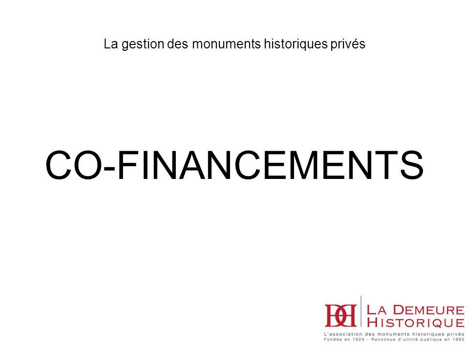 CO-FINANCEMENTS