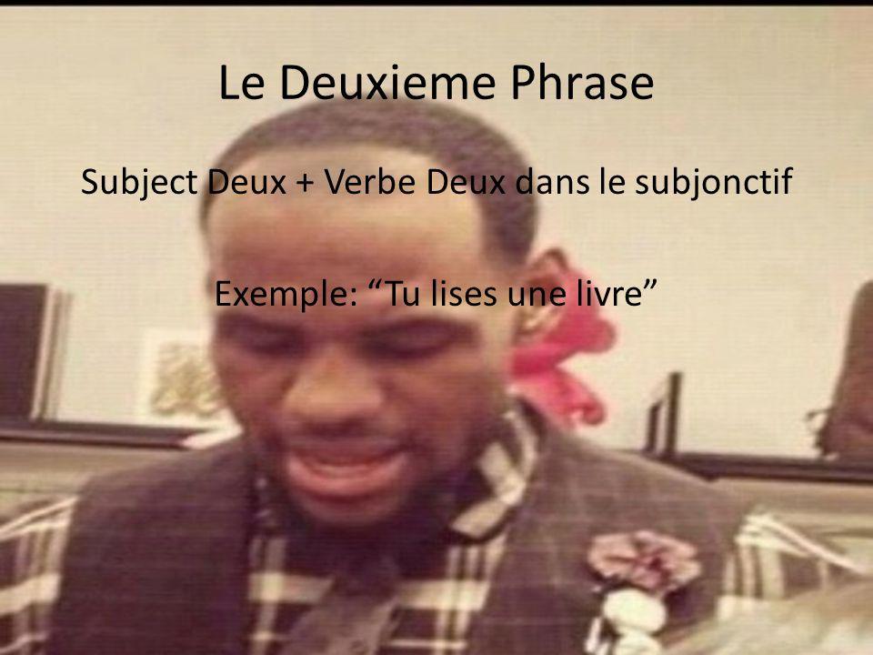 Le Premier Phrase Une verbe dans le present plus que Exemple: Je propose que…
