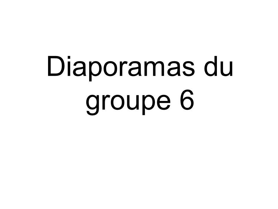 Diaporamas du groupe 6
