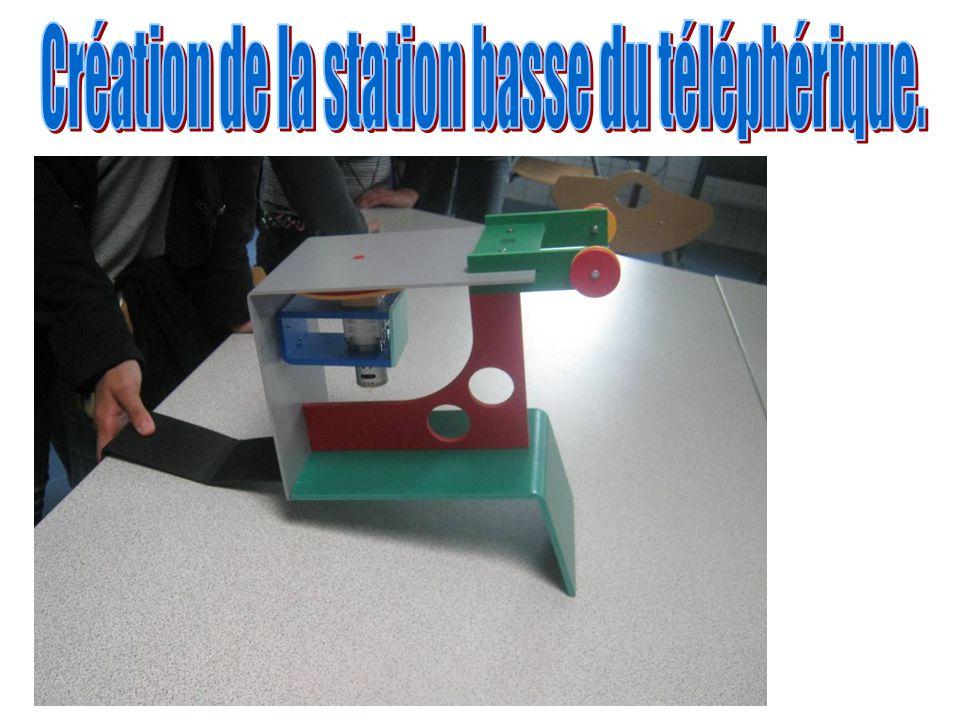 Création du guide câble de la station basse du téléphérique.