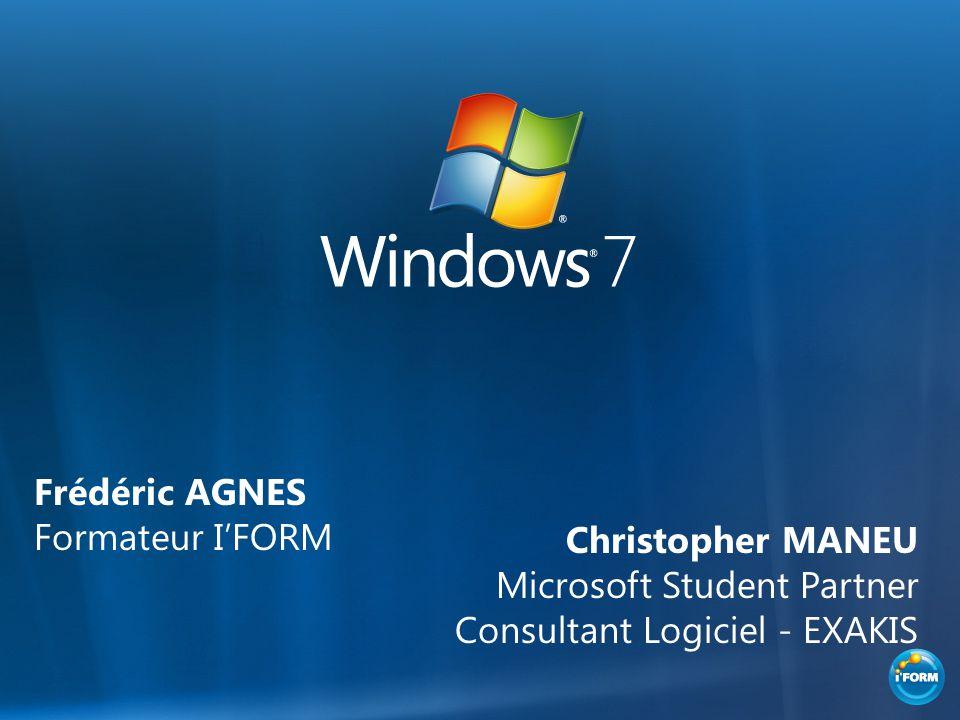 Frédéric AGNES Formateur IFORM Christopher MANEU Microsoft Student Partner Consultant Logiciel - EXAKIS