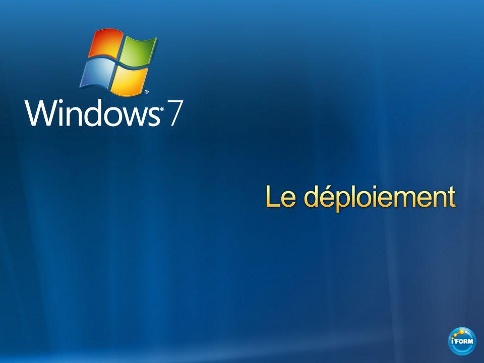 Édition et gestion dimages de déploiement Outil de migration de létat des utilisateurs Microsoft Deployment Toolkit Application Compatibility Toolkit Services de déploiement Windows
