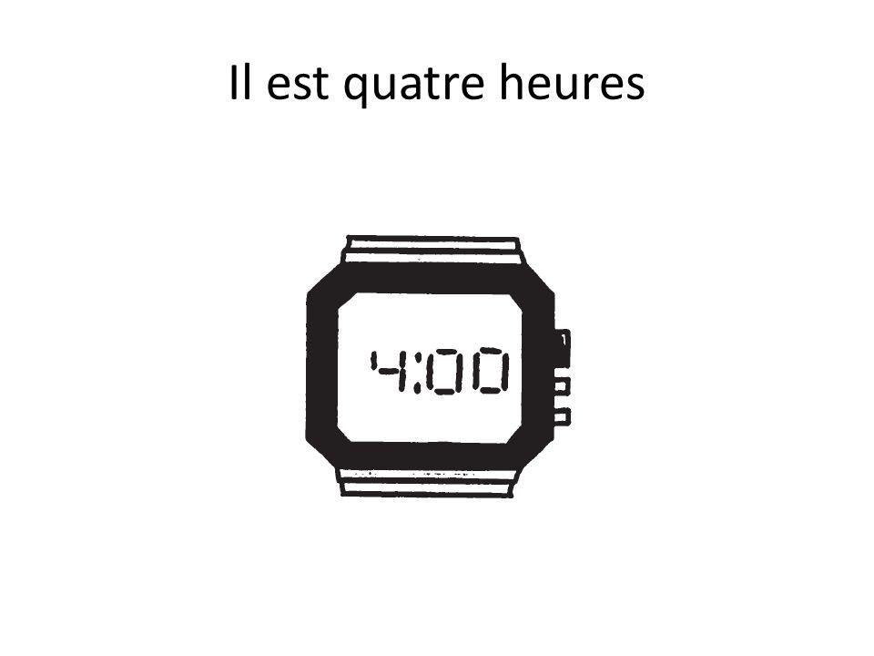 A.M. – P.M. Il est 8 heures du matin Il est 8 heures du soir Il est 4 heure de laprès-midi