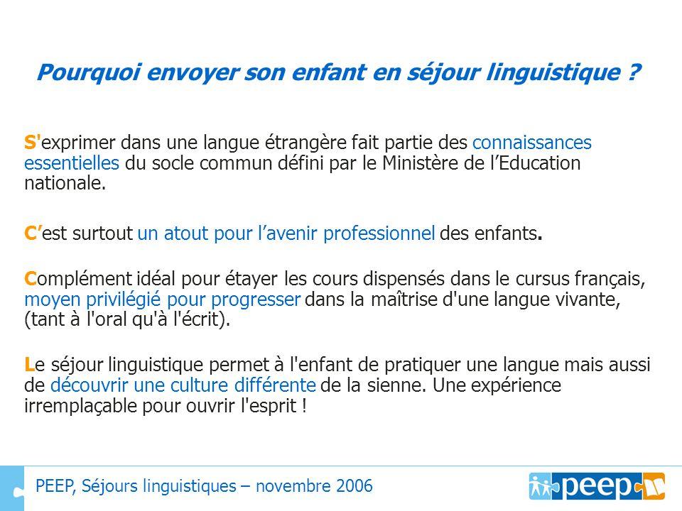Pourquoi envoyer son enfant en séjour linguistique ? S'exprimer dans une langue étrangère fait partie des connaissances essentielles du socle commun d