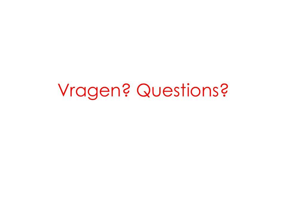 Vragen? Questions?