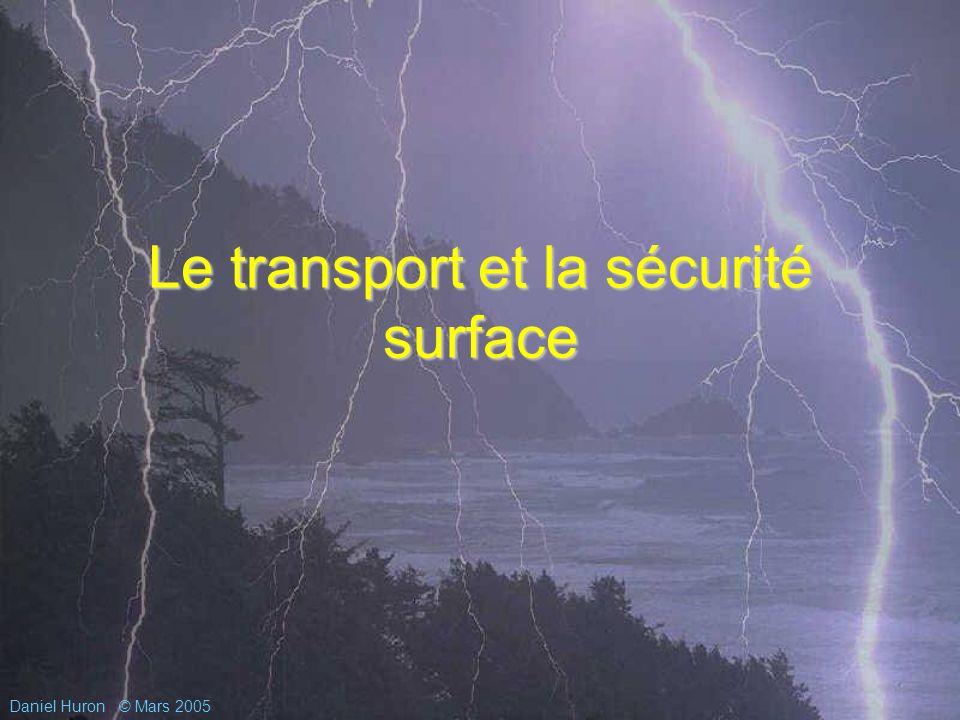 Daniel Huron© Mars 2005 Le transport et la sécurité surface