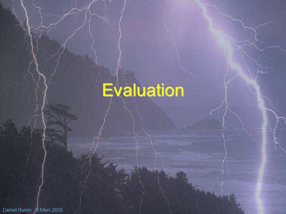 Daniel Huron© Mars 2005 Evaluation