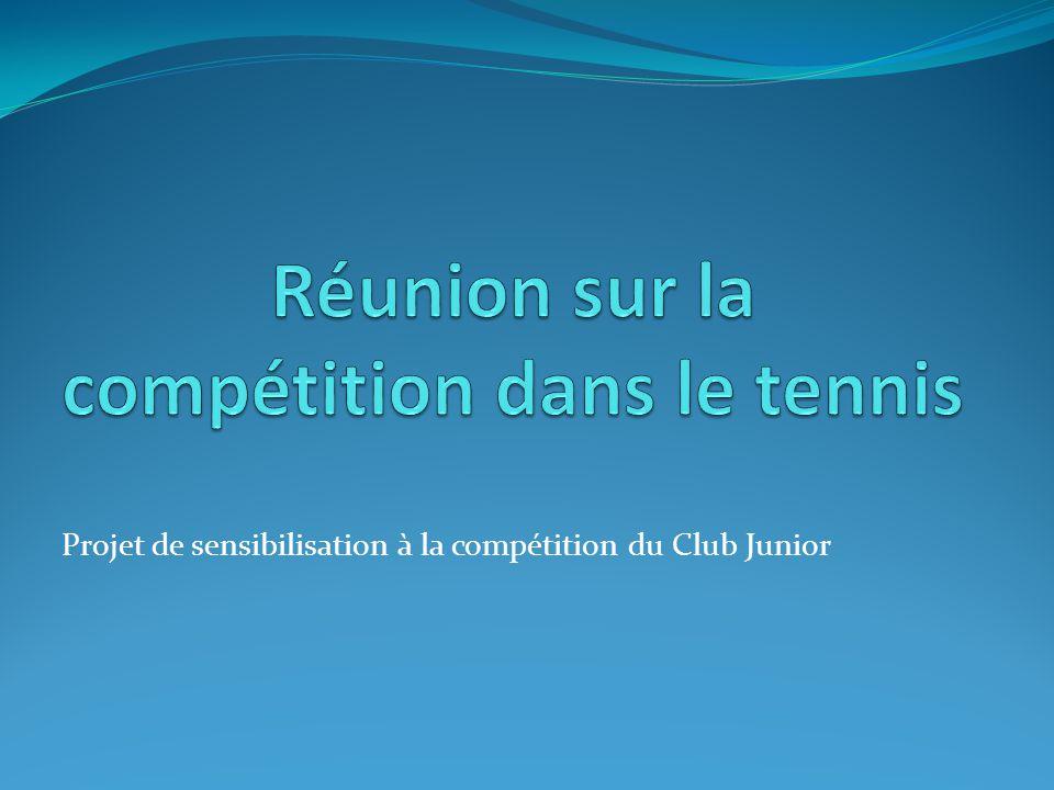 Projet de sensibilisation à la compétition du Club Junior