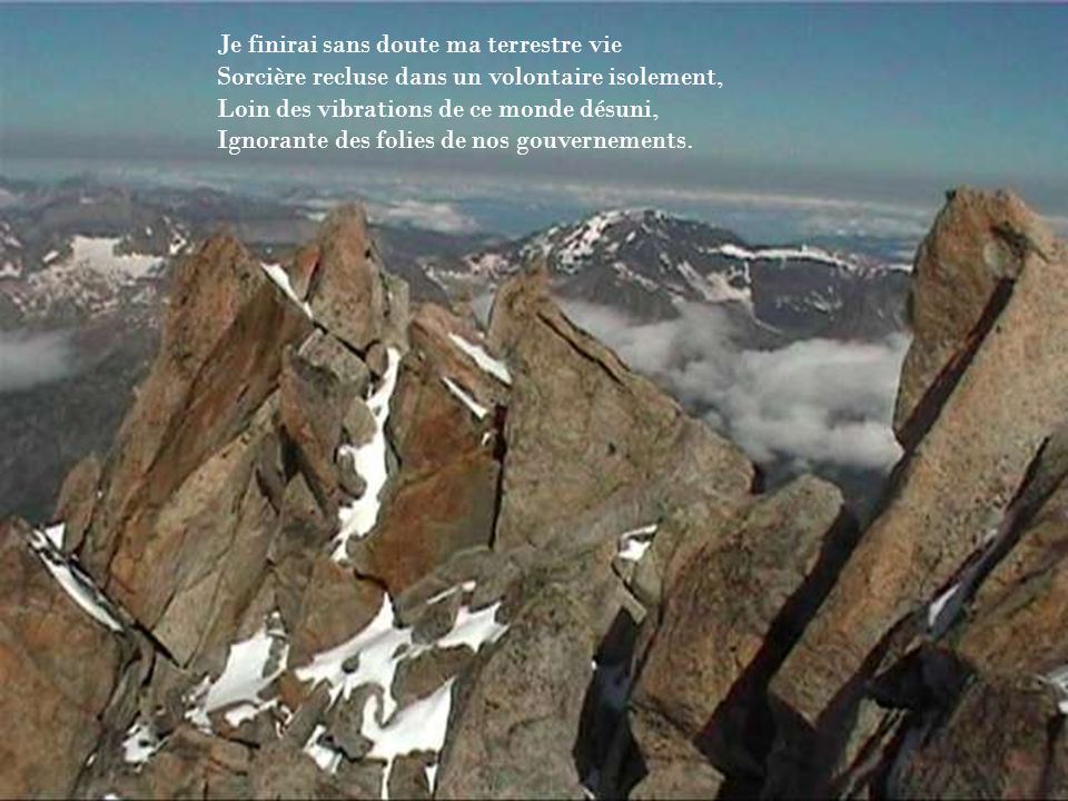 Sur un poème dYvonne Ollier Avec des images prises sur le Web travaillées avec divers logiciels Montage à la Berto…