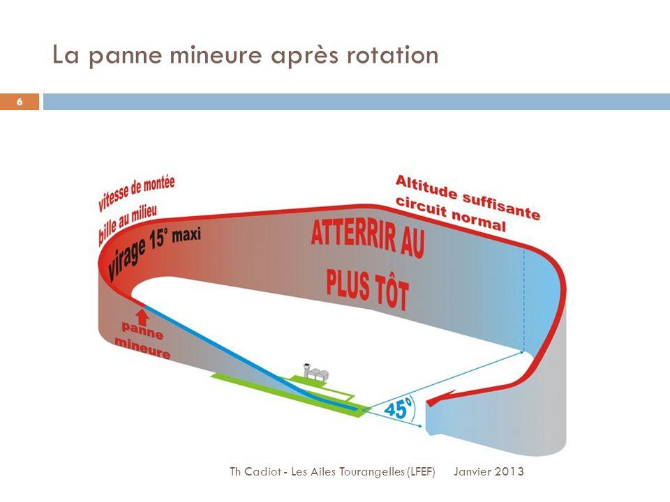La panne mineure après rotation Janvier 2013 Th Cadiot - Les Ailes Tourangelles (LFEF) 6