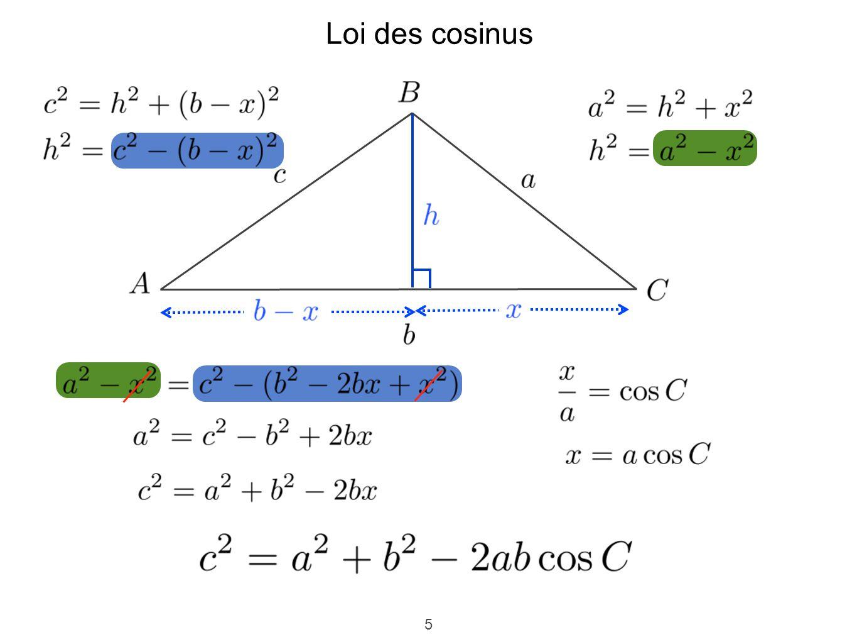 5 Loi des cosinus