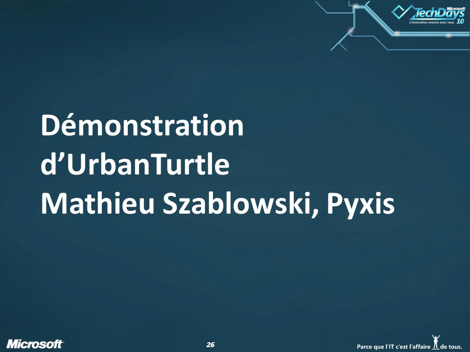 26 Démonstration dUrbanTurtle Mathieu Szablowski, Pyxis