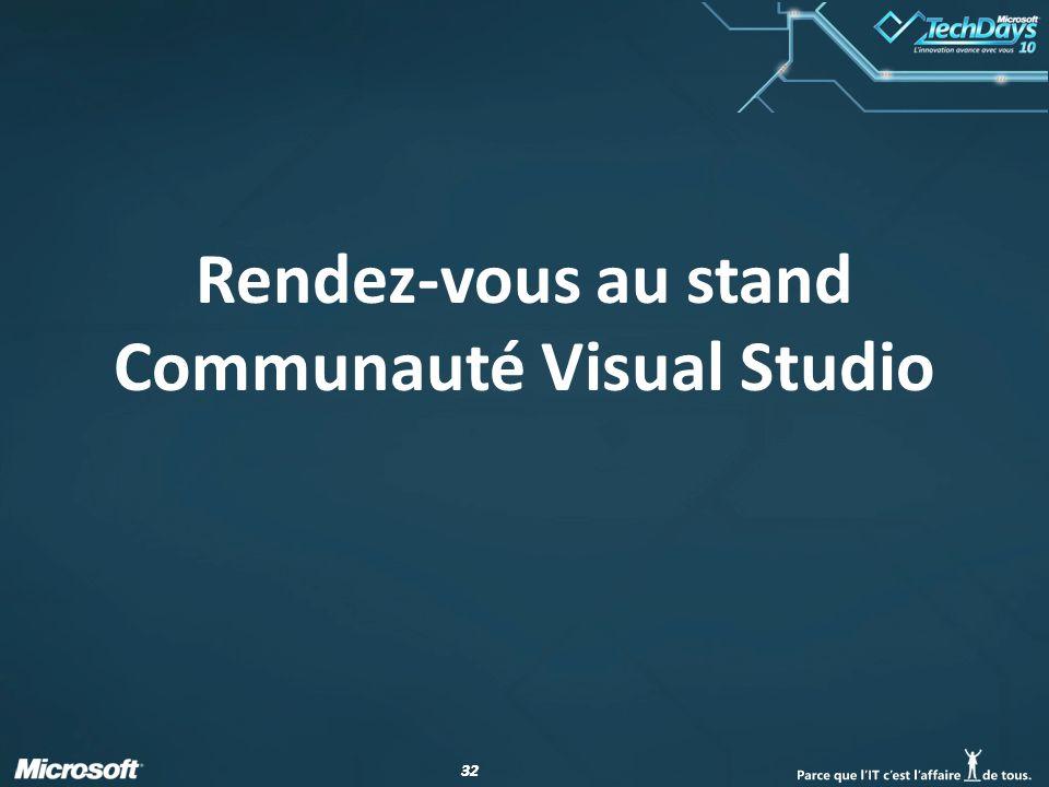 32 Rendez-vous au stand Communauté Visual Studio
