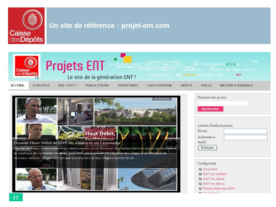 Un site de référence : projet-ent.com 12