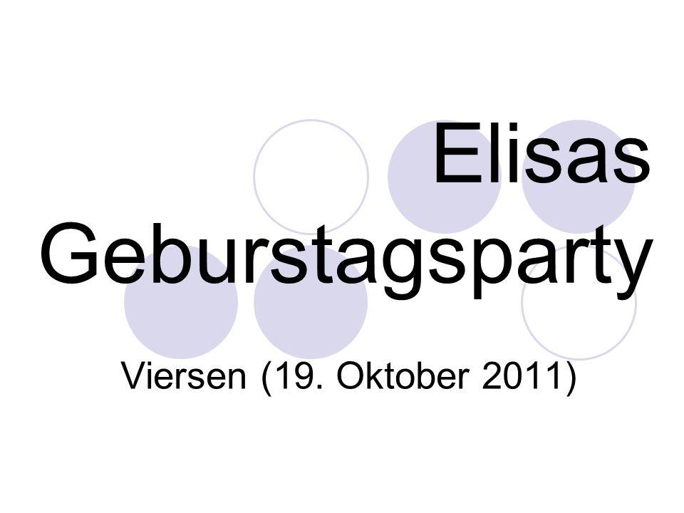 Elisas Geburstagsparty Viersen (19. Oktober 2011)