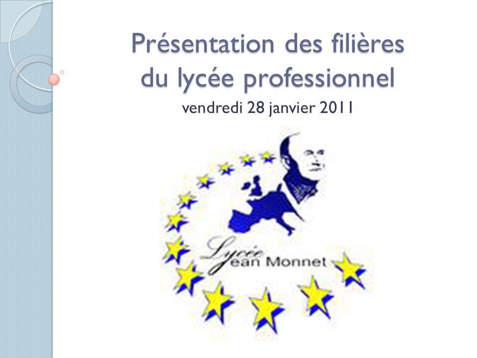 Présentation des filières du lycée professionnel vendredi 28 janvier 2011