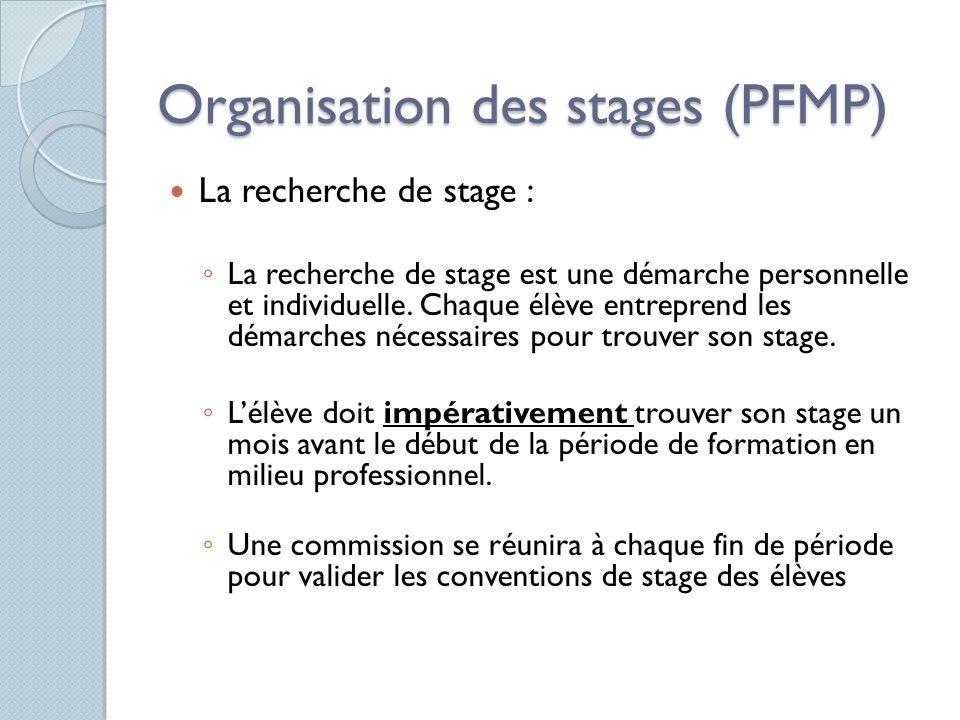 La recherche de stage : La recherche de stage est une démarche personnelle et individuelle. Chaque élève entreprend les démarches nécessaires pour tro