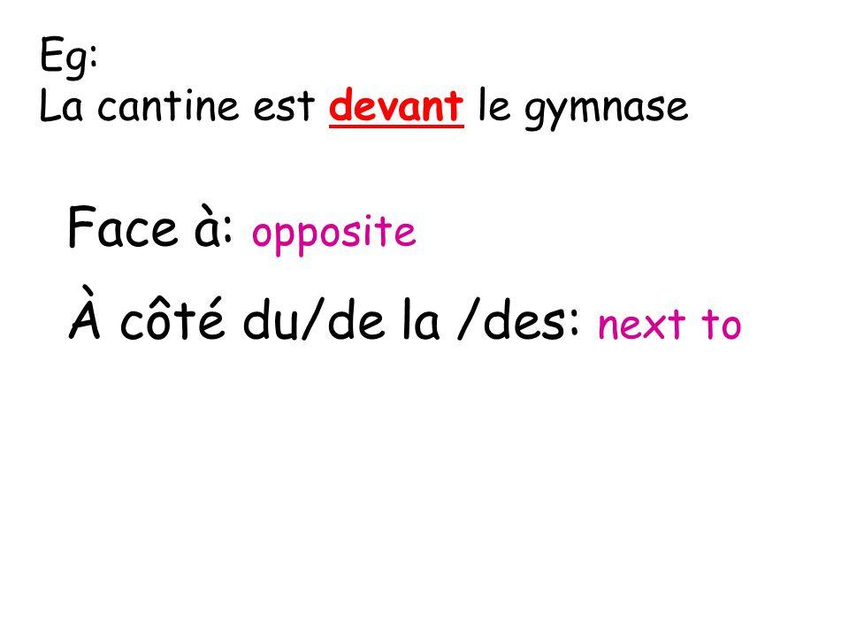 Révision des prépositions. sur = on sous = under devant = in front of derrière = behind dans = in