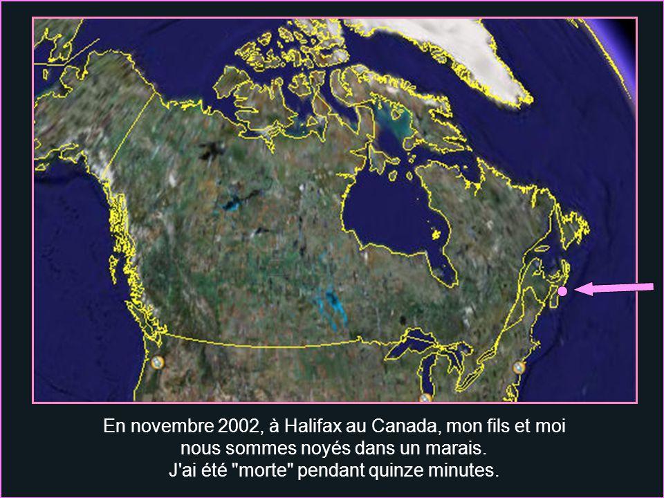 En novembre 2002, à Halifax au Canada, mon fils et moi nous sommes noyés dans un marais.