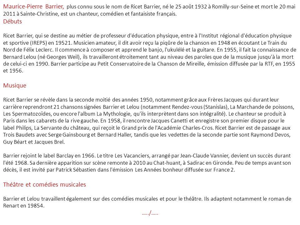 Ah ! Victor Hugo, le bon Totor, limmense Totor. (Juliette Drouet lappelait tendrement
