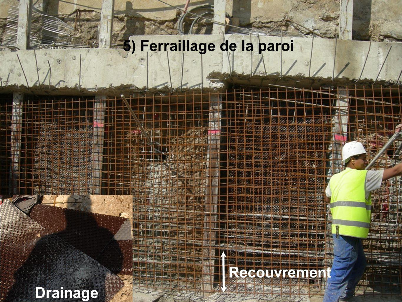 5) Ferraillage de la paroi Drainage Recouvrement