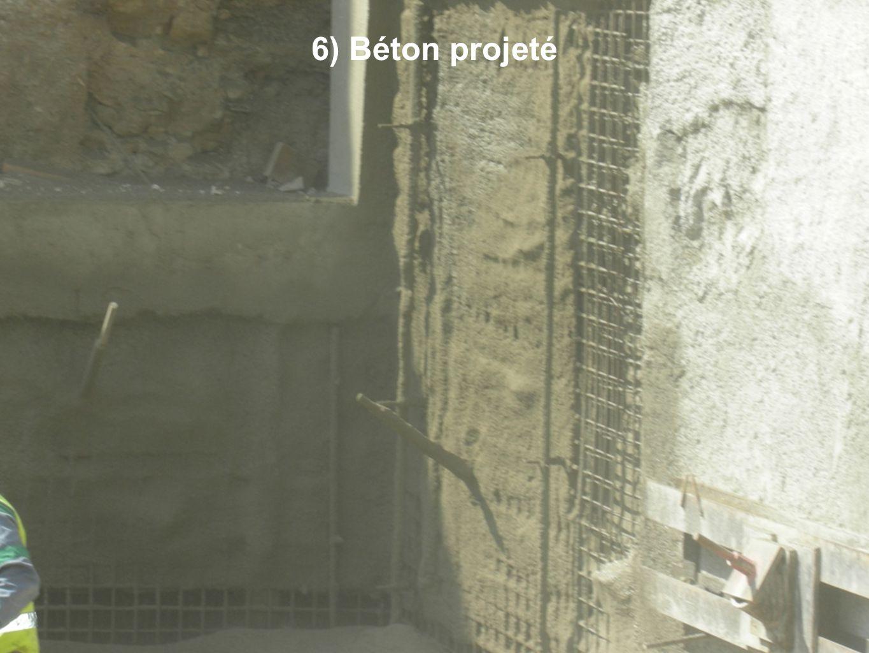 6) Béton projeté
