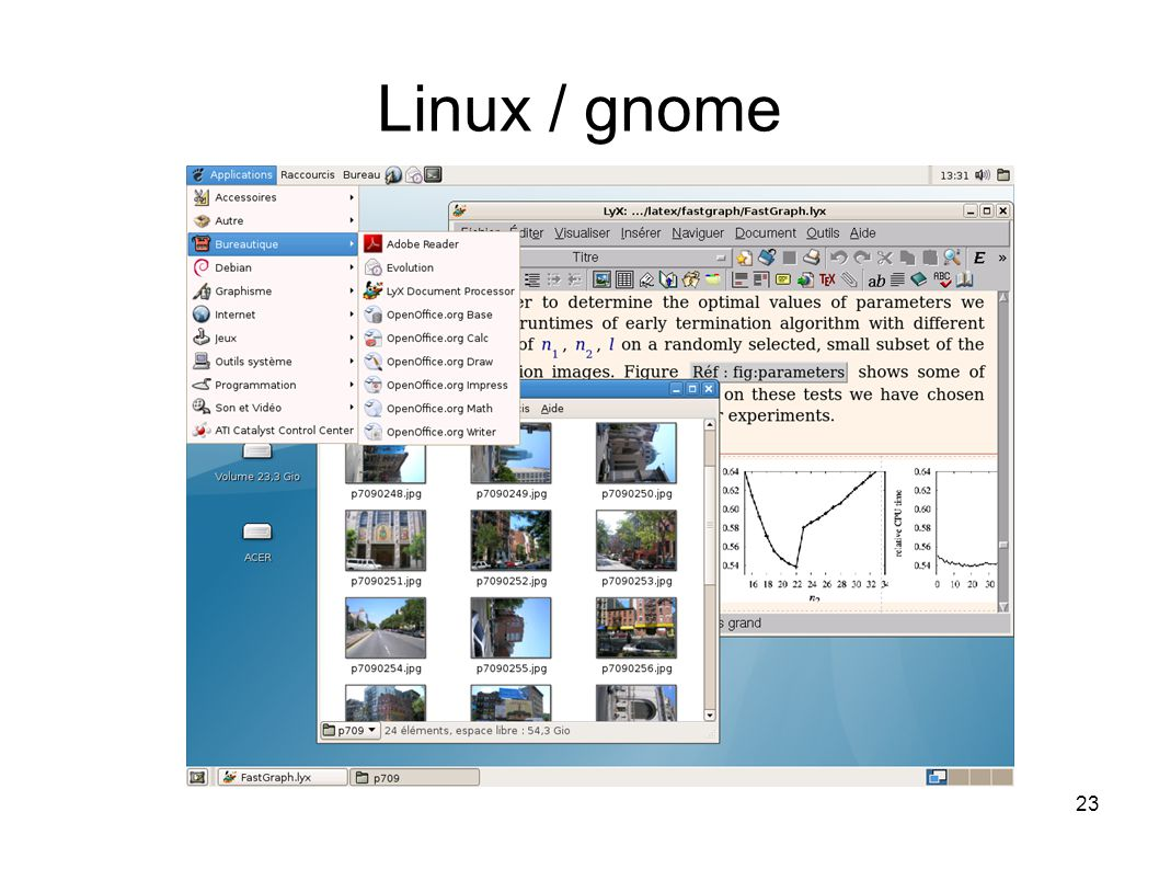23 Linux / gnome