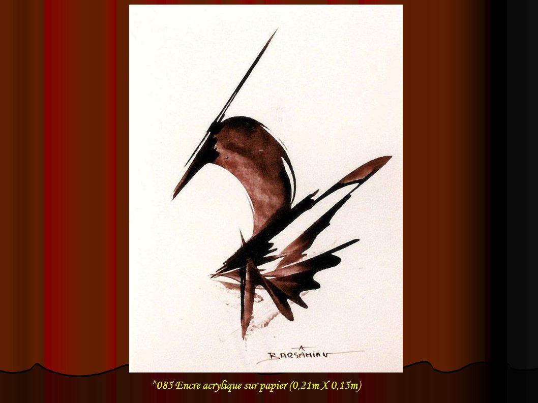 *085 Encre acrylique sur papier (0,21m X 0,15m)