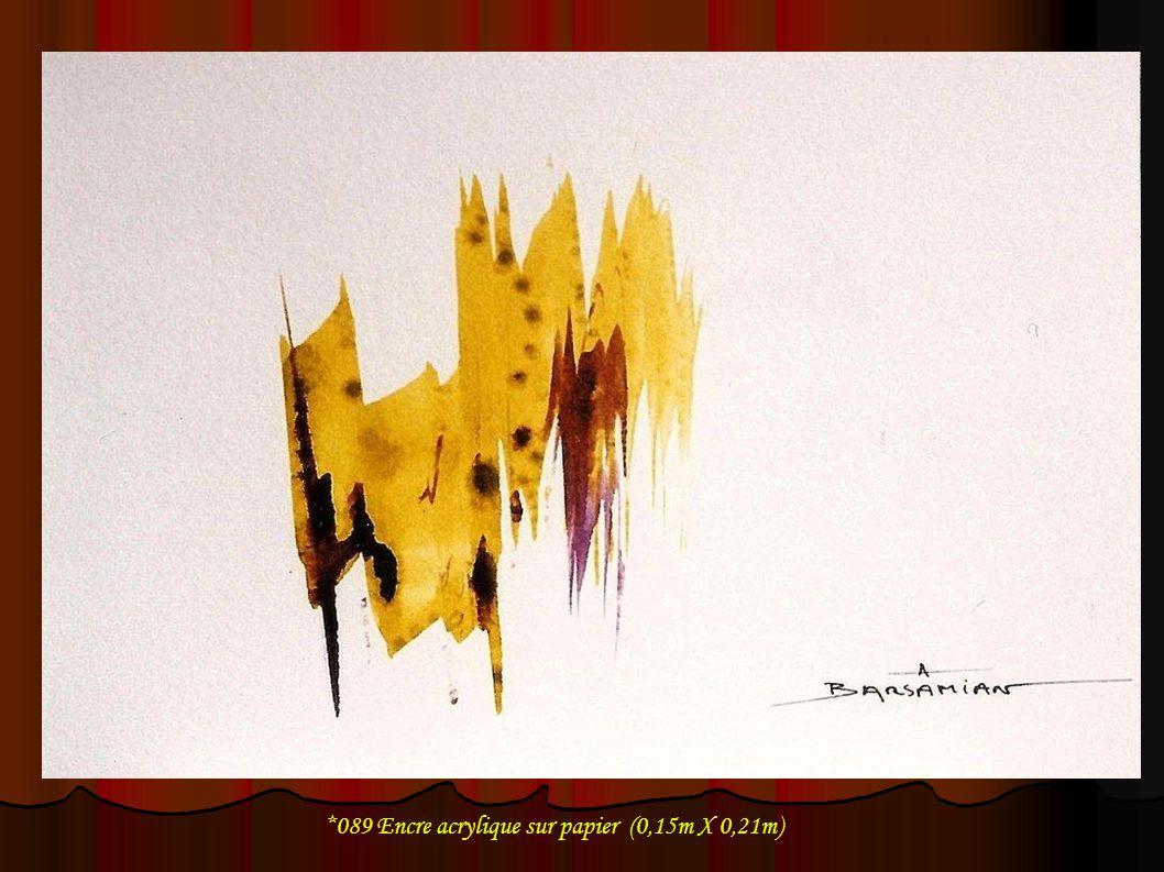 *089 Encre acrylique sur papier (0,15m X 0,21m)