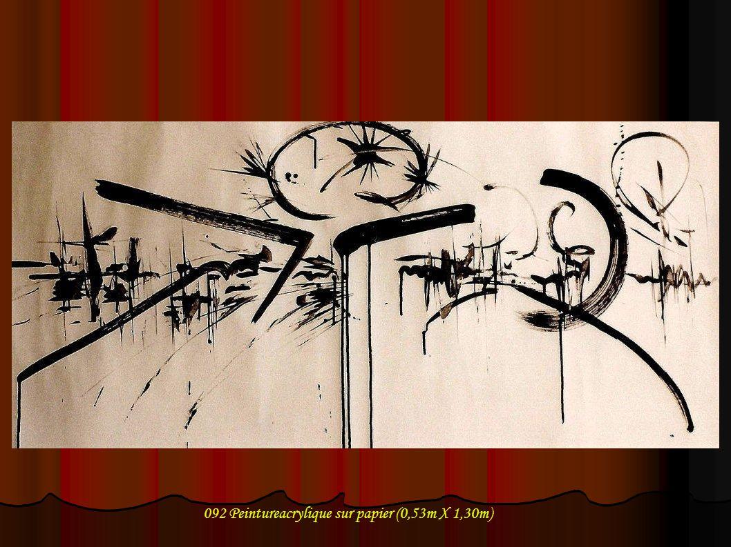 092 Peintureacrylique sur papier (0,53m X 1,30m)