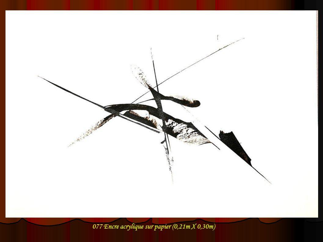 077 Encre acrylique sur papier (0,21m X 0,30m)