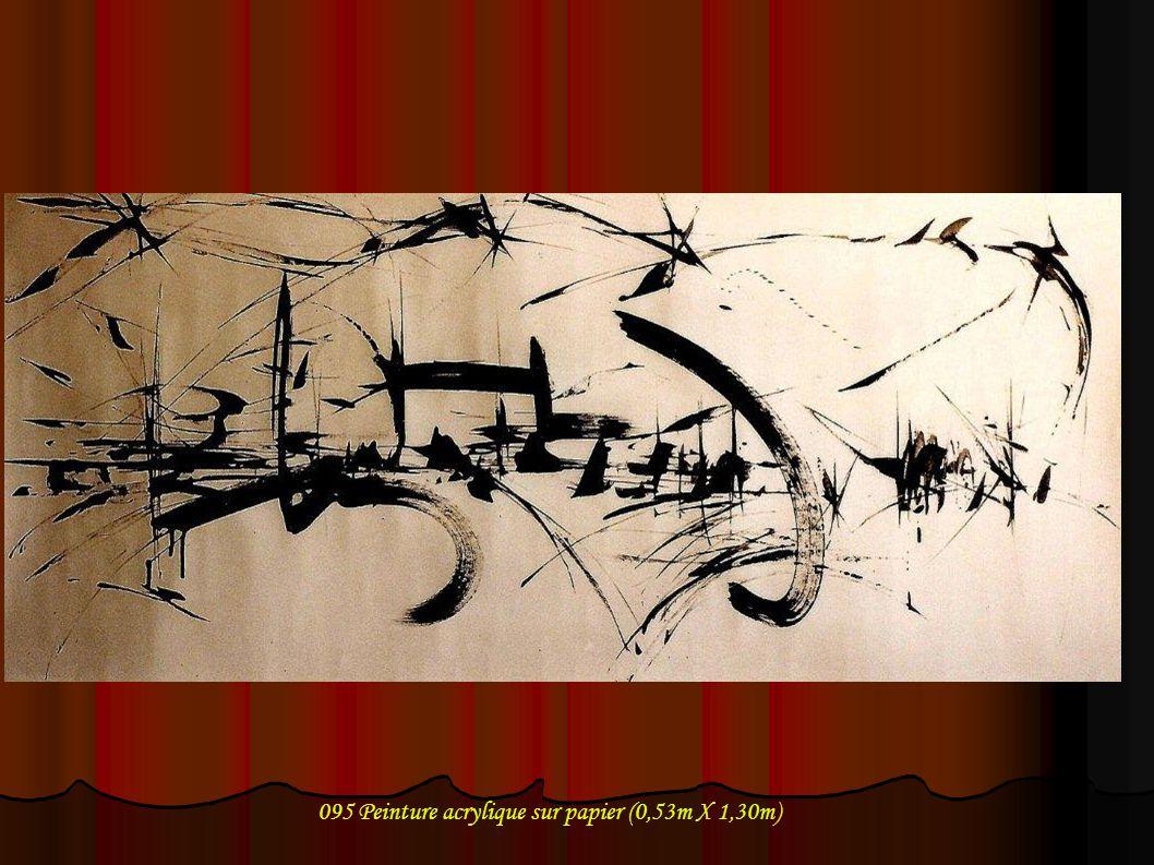 095 Peinture acrylique sur papier (0,53m X 1,30m)