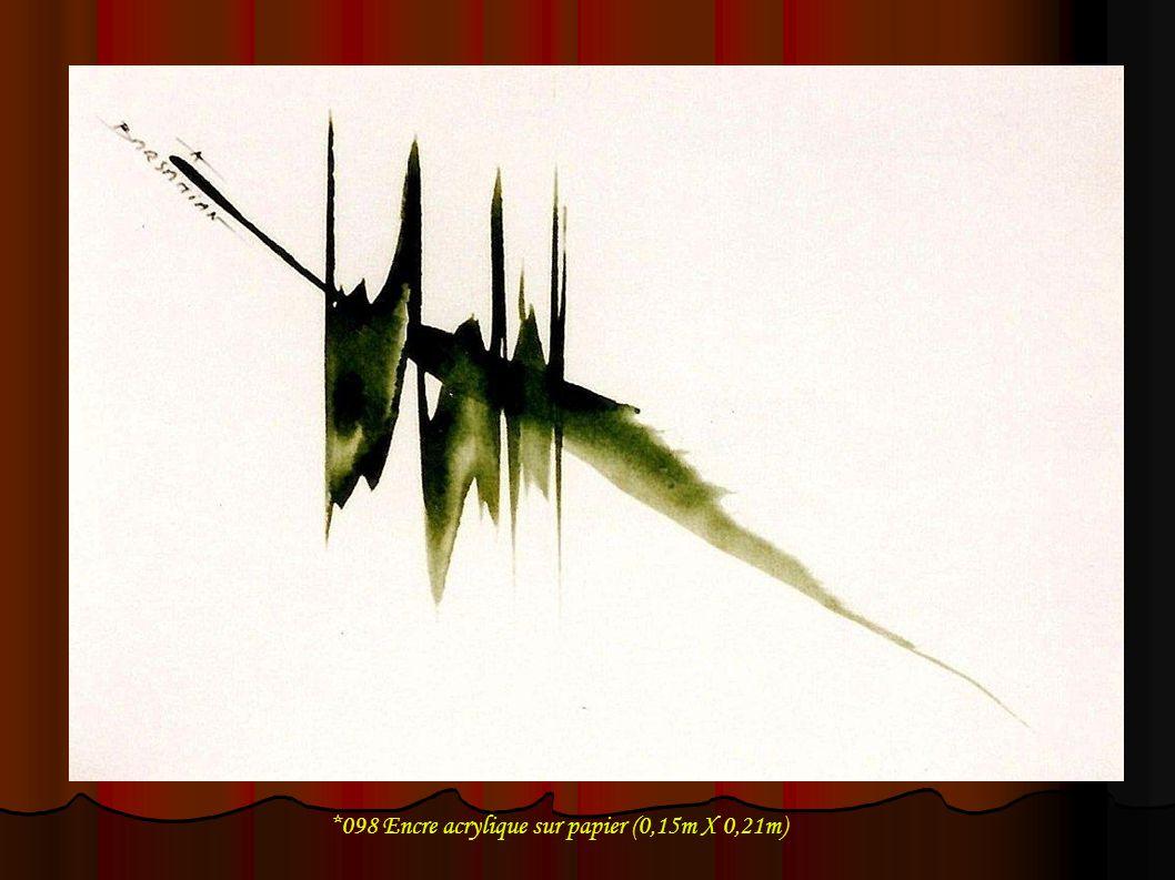 *098 Encre acrylique sur papier (0,15m X 0,21m)