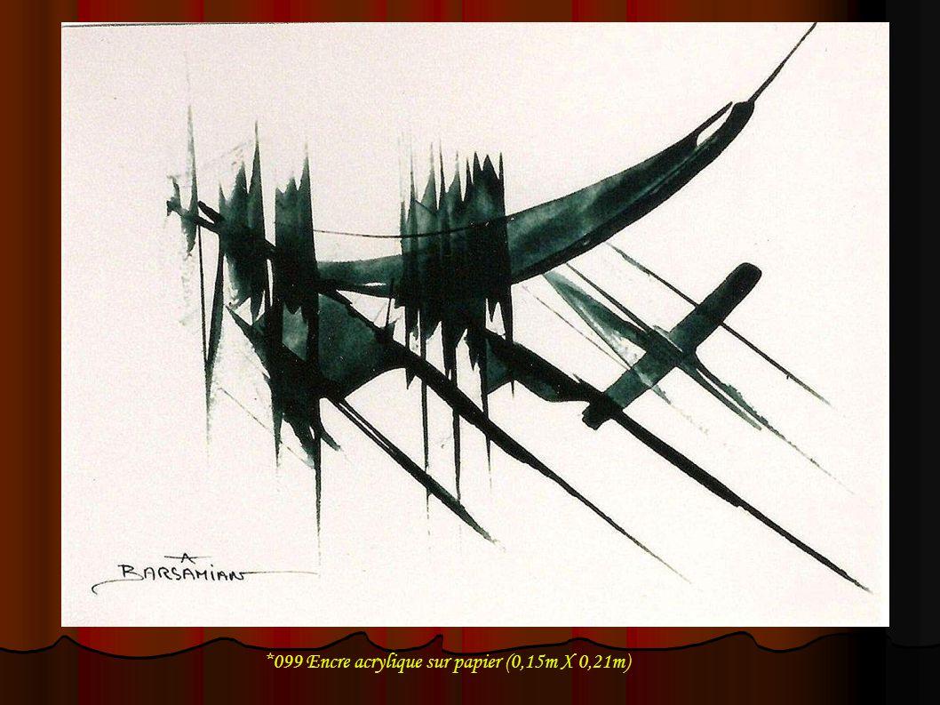*099 Encre acrylique sur papier (0,15m X 0,21m)
